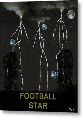 Football Star Metal Print by Eric Kempson