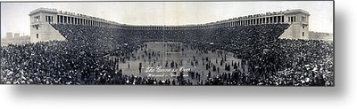 Football, The Game Is Over Panorama Metal Print by Everett