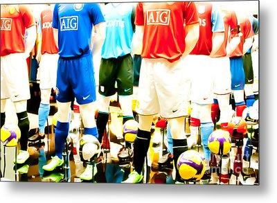 Footballers Unite Metal Print by Andy Smy
