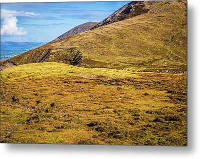 Foothill Of The Macgillycuddy's Reeks In Kerry Ireland Metal Print by Semmick Photo