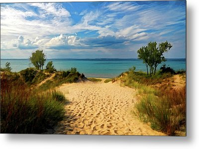 Footprints In The Sand P D P Metal Print by David Dehner