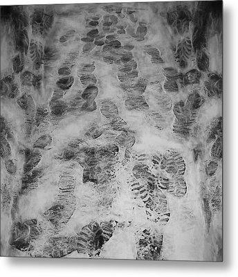 Footprints Metal Print