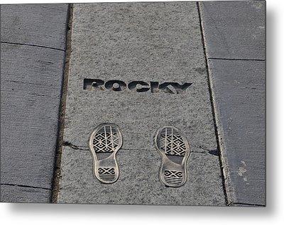 Footsteps - Rocky Metal Print