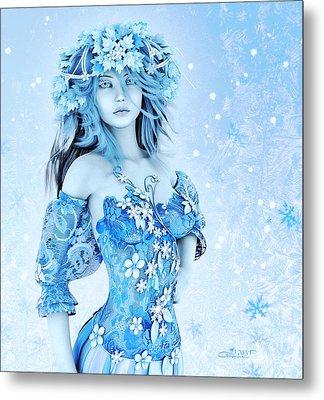For All Winter Friends Metal Print by Jutta Maria Pusl