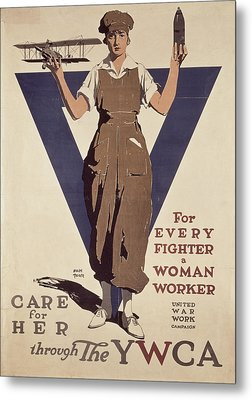 For Every Fighter A Woman Worker Metal Print