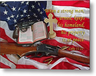 For God, Family And Country Metal Print