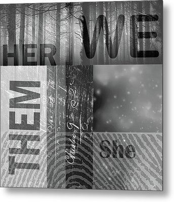 Metal Print featuring the digital art For Her by Nancy Merkle