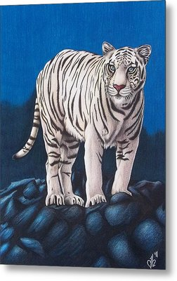 Metal Print featuring the drawing For Jurek by Danielle R T Haney
