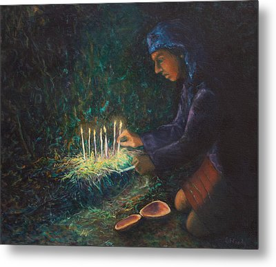 Metal Print featuring the painting For The Ancestors by Carla Woody