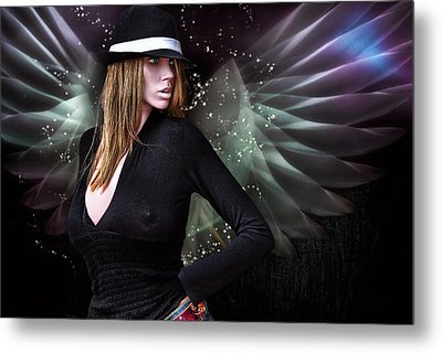 For The Demon Lurked Under The Angel In Me .... Metal Print