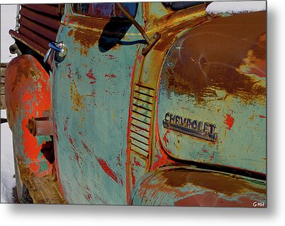 Chevy With Initials Metal Print