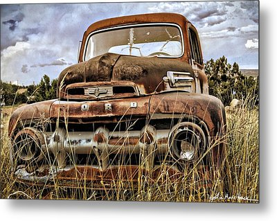 Ford With Signature Metal Print