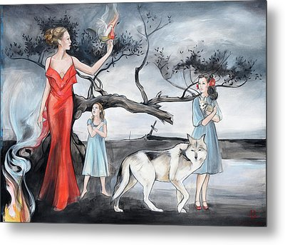 For Those Who Fear Fire Metal Print by Jacque Hudson