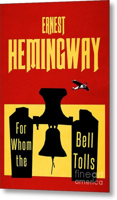 For Whom The Bell Tolls Book Cover Poster Art 2 Metal Print