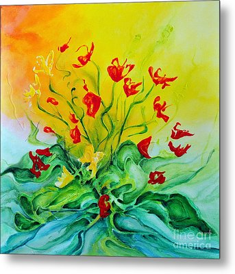Metal Print featuring the painting For You by Teresa Wegrzyn