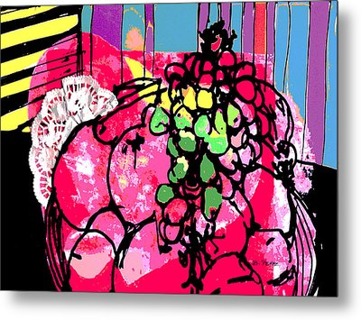 Forbidden Fruit Metal Print by Betty Pehme