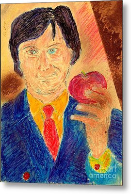 Metal Print featuring the painting Forbidden Fruit From Steve Jobs by Richard W Linford