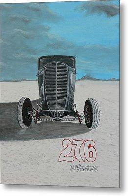 Ford 34' At Bonneville Metal Print by Chris Lambert