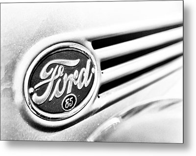 Ford 85 In Black And White Metal Print by Caitlyn Grasso