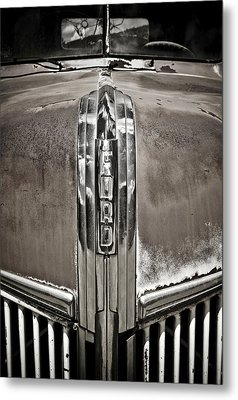 Ford Chrome Grille Metal Print by Marilyn Hunt