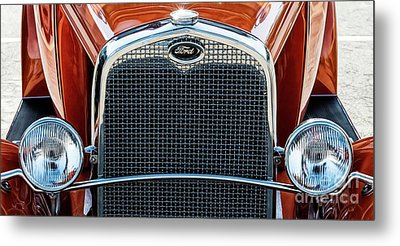 Metal Print featuring the photograph Ford Coupe by Brad Allen Fine Art