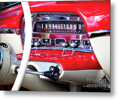 Metal Print featuring the photograph Ford Dash by Chris Dutton