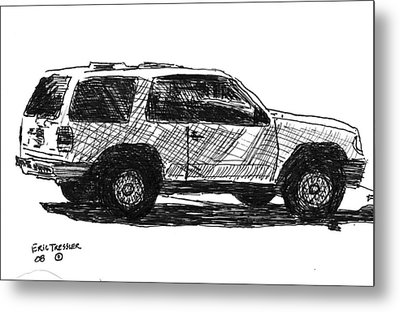 Ford Explorer Metal Print by Eric Tressler