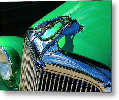 Ford Greyhound Hood Ornament Metal Print
