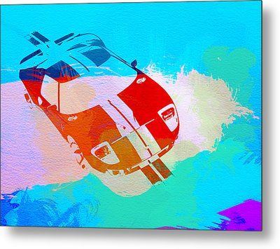 Ford Gt Watercolor  Metal Print