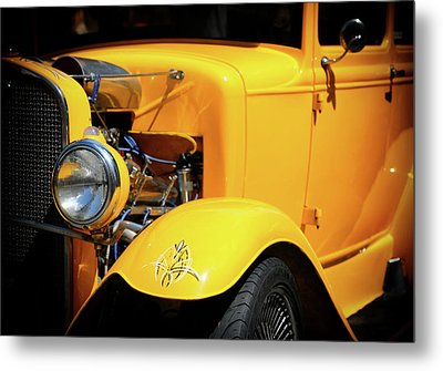 Metal Print featuring the photograph Ford Hot-rod by Jeremy Lavender Photography