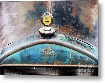 Ford Made In Usa Rat Rod Metal Print by Tim Gainey