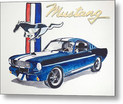Ford Mustang Metal Print by Eva Ason