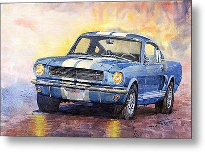 Ford Mustang Gt 350 1966 Metal Print by Yuriy Shevchuk