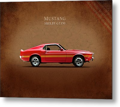 Ford Mustang Shelby Gt350 1969 Metal Print by Mark Rogan