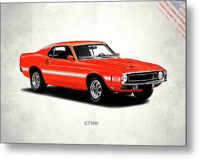 Ford Mustang Shelby Gt500 1969 Metal Print by Mark Rogan
