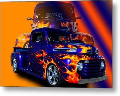 Ford Pick Up Truck Metal Print by Jim  Hatch
