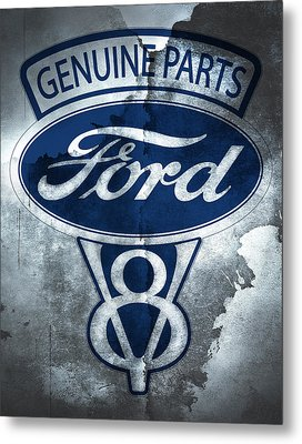 Ford V8 Metal Print by Mark Rogan