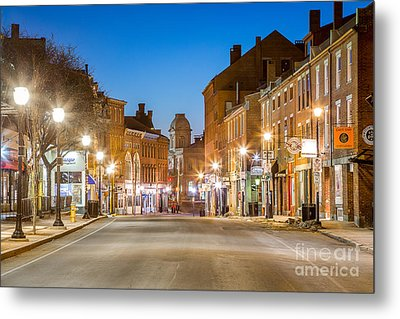 Fore Street Portland Maine Metal Print by Benjamin Williamson