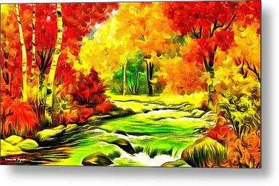 Forest And River - Pa Metal Print