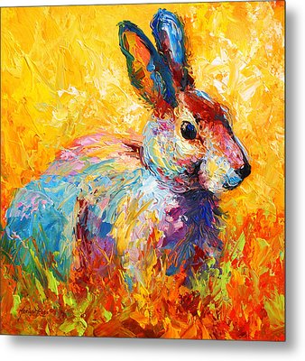 Forest Bunny Metal Print by Marion Rose