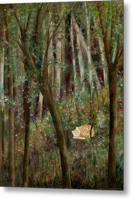 Forest Cat Metal Print by FT McKinstry