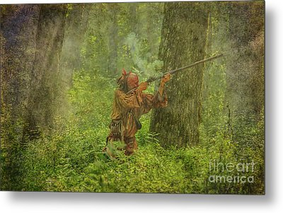 Metal Print featuring the digital art Forest Clash by Randy Steele