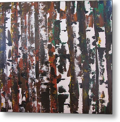 Metal Print featuring the painting Forest For The Trees by Gary Smith