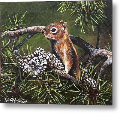 Forest Friend Metal Print
