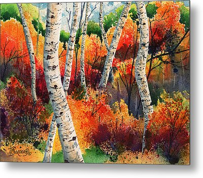 Forest In Color Metal Print