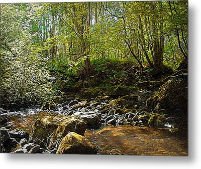 Forest Landscape Metal Print by Svetlana Sewell
