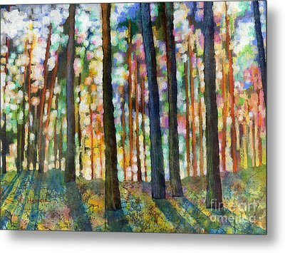 Metal Print featuring the painting Forest Light by Hailey E Herrera