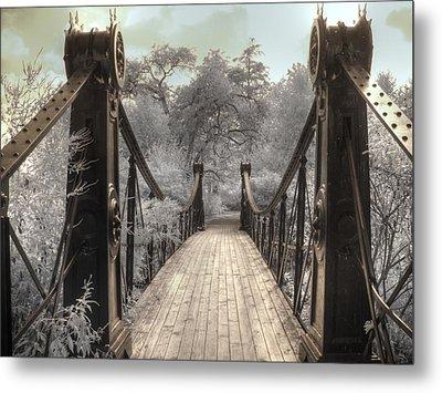 Forest Park Victorian Bridge Saint Louis Missouri Infrared Metal Print