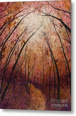 Metal Print featuring the painting Forest Path by Hailey E Herrera