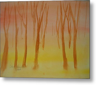 Forest Study Metal Print by Larry Hamilton